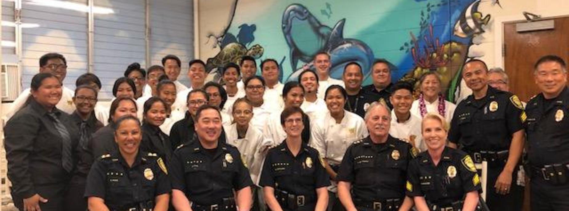 Marauder Cafe host the Honolulu Police Dept