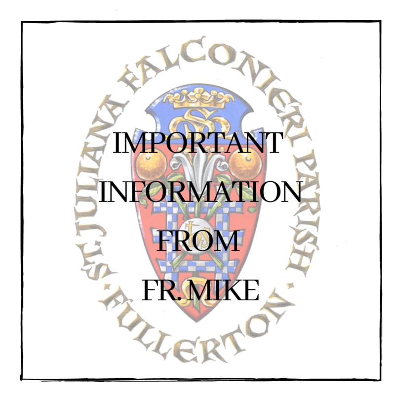 Important Information From Fr. Mike Featured Photo