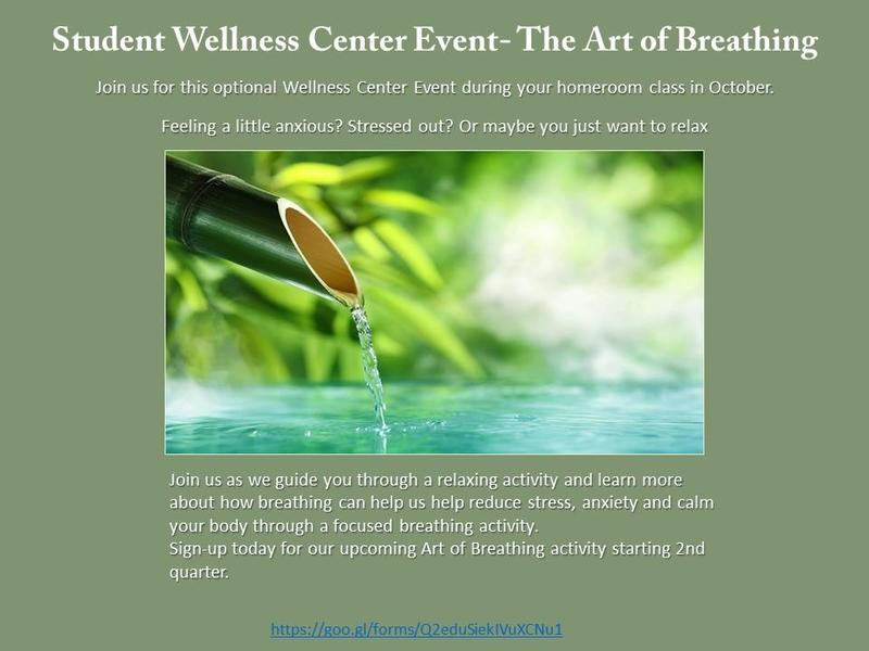 Student Wellness Center Event- The Art of Breathing Featured Photo