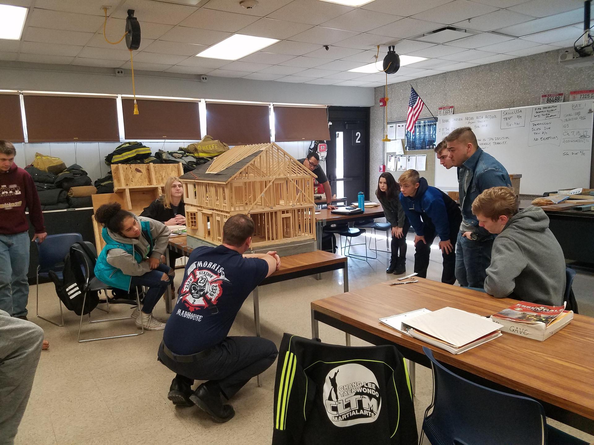 Captain Dave teaching building construction