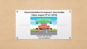 New Families Orientation