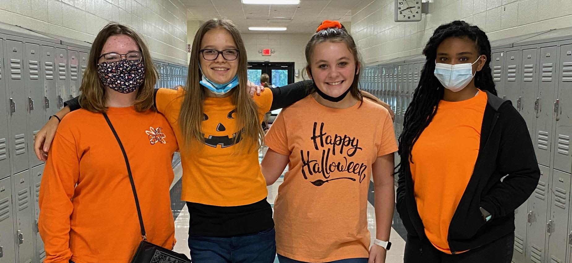 Students participating in Red Ribbon Week.