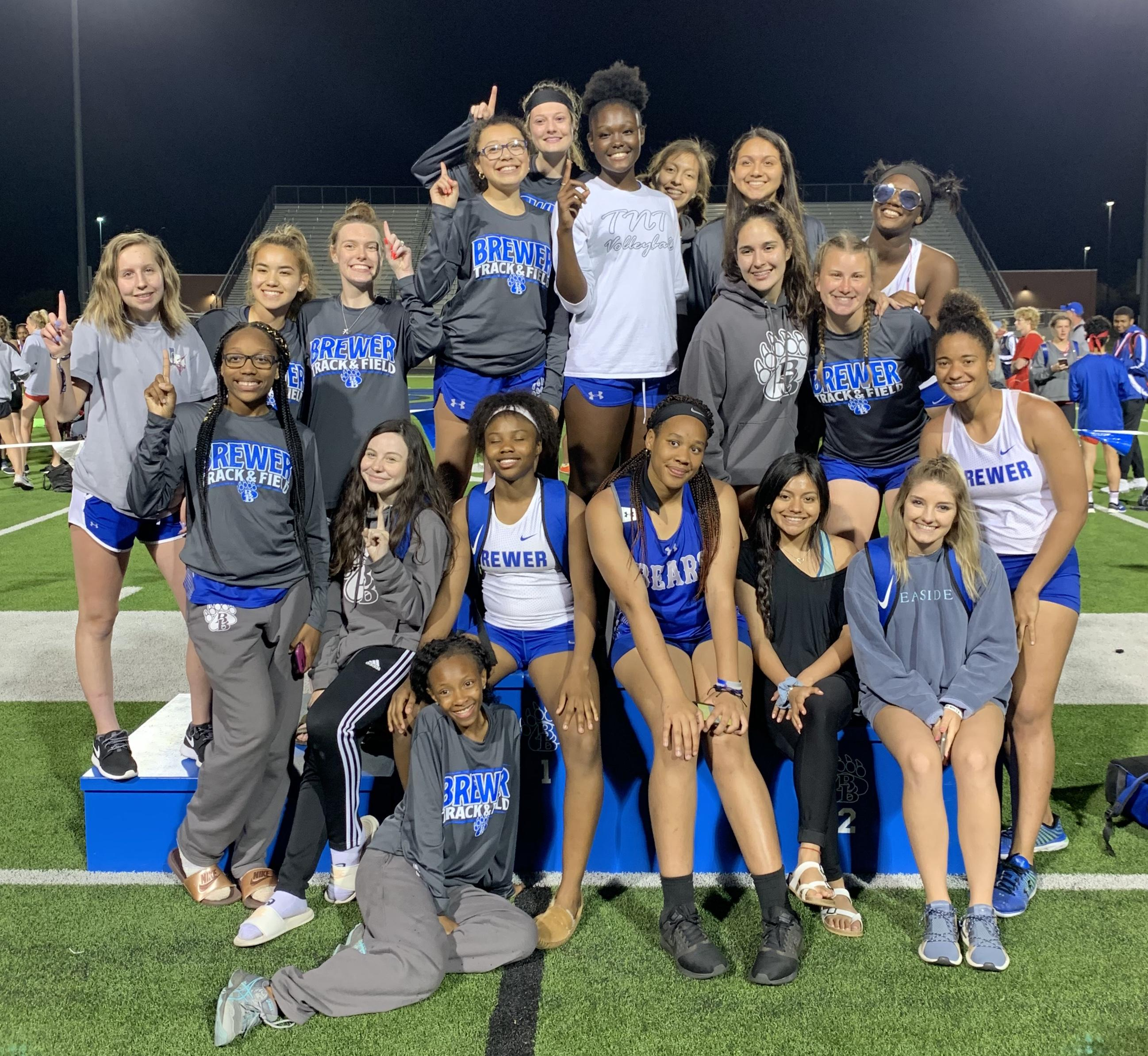 Several members of the Brewer High School track team placed at the District Meet, advancing to the Area Meet in Keller on April 17 and 18.