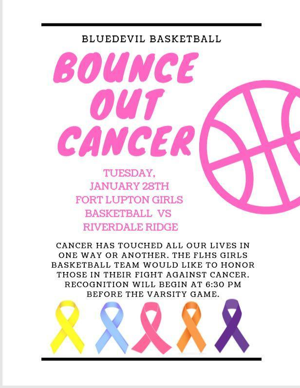 FLHS Bounce Out Cancer Game Flier