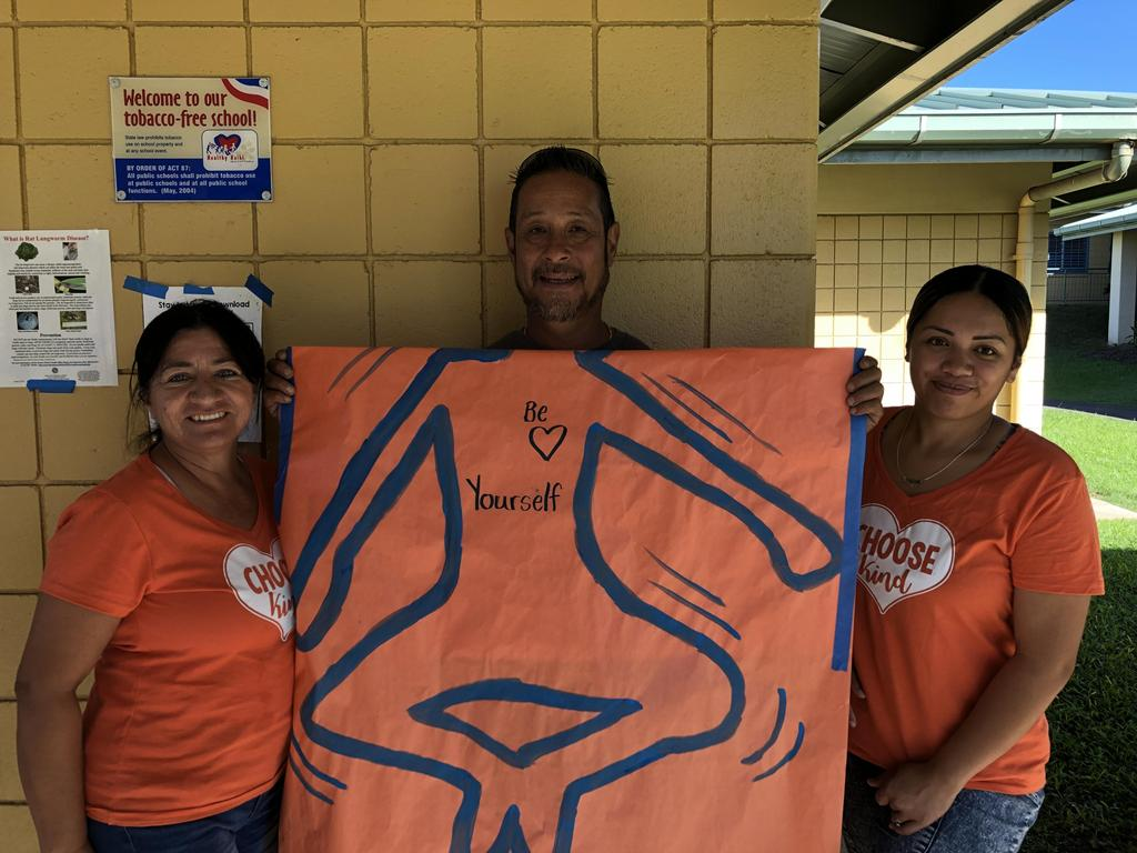 Unity Day Picture,Custodial staff in orange shirts