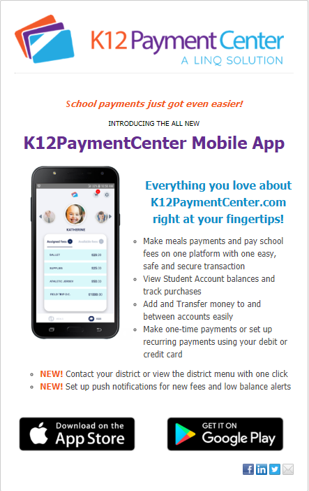 K12 Payment Center Mobile App Thumbnail Image