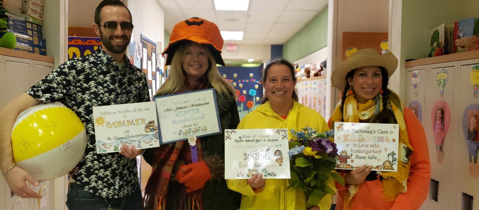 teachers dressed up