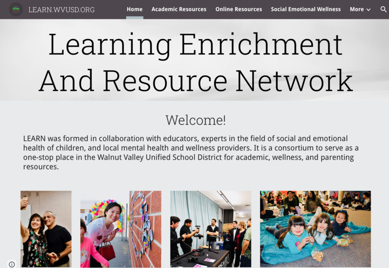 New District-wide Learning Enrichment And Resource Network: http://learn.wvusd.org Featured Photo