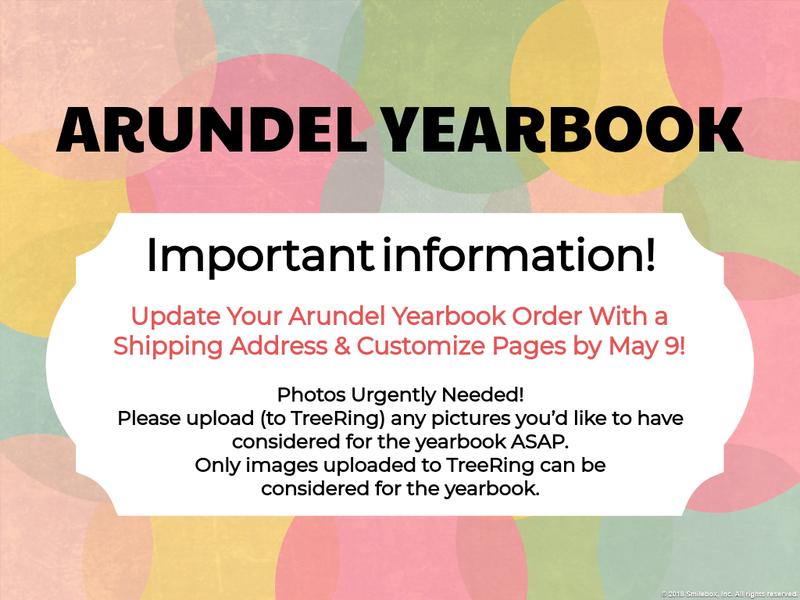 Arundel Yearbook Deadline Coming Soon! Featured Photo