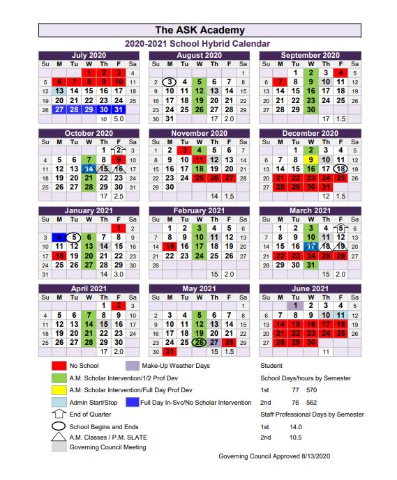 20-21 Hybrid Calendar