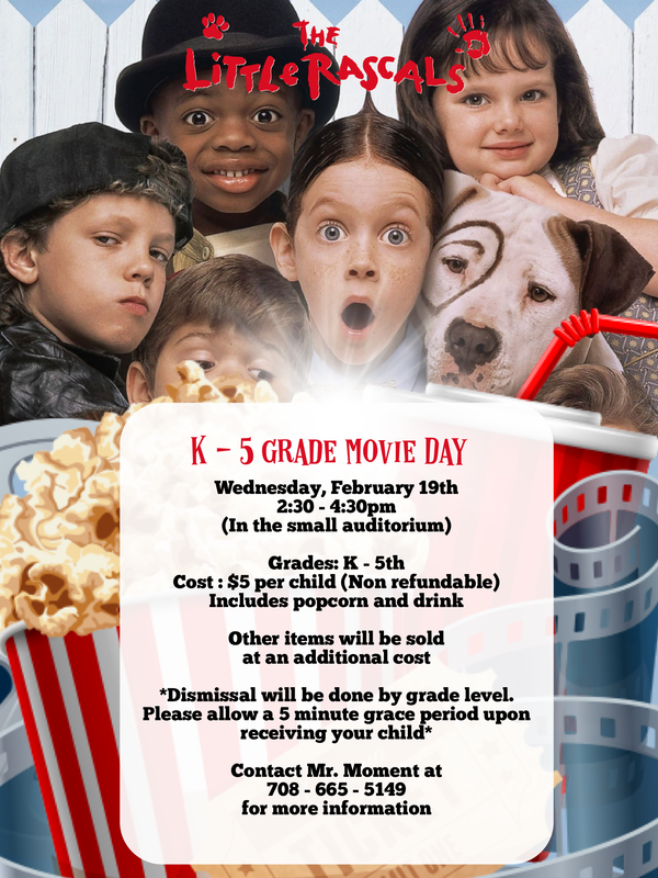 K - 5th Grade Movie Day Featured Photo