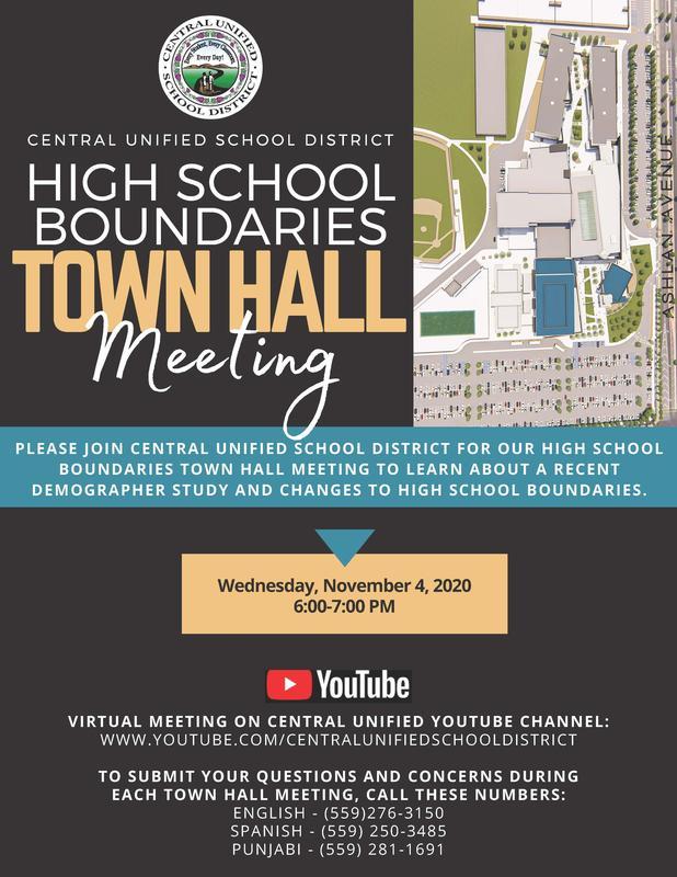 High School Boundaries Town Hall Meeting Flyer