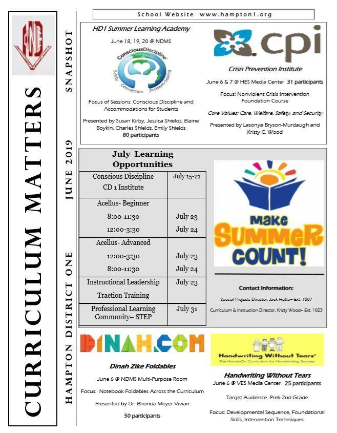 Curriculum Matters June 2019