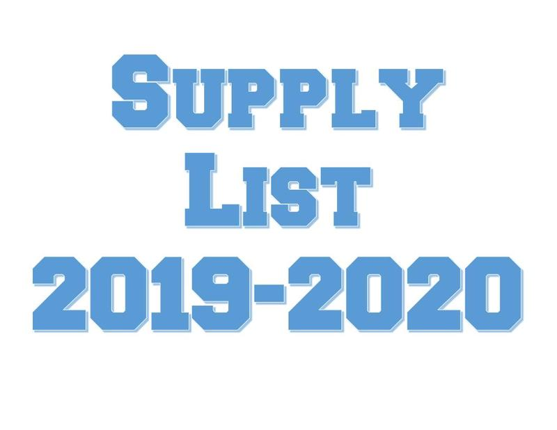 2019-2020 School Supply List Thumbnail Image