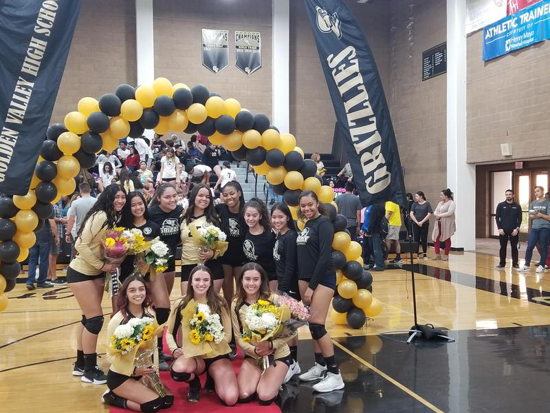 Lady Grizzlies Top Canyon on Volleyball Senior Night Featured Photo