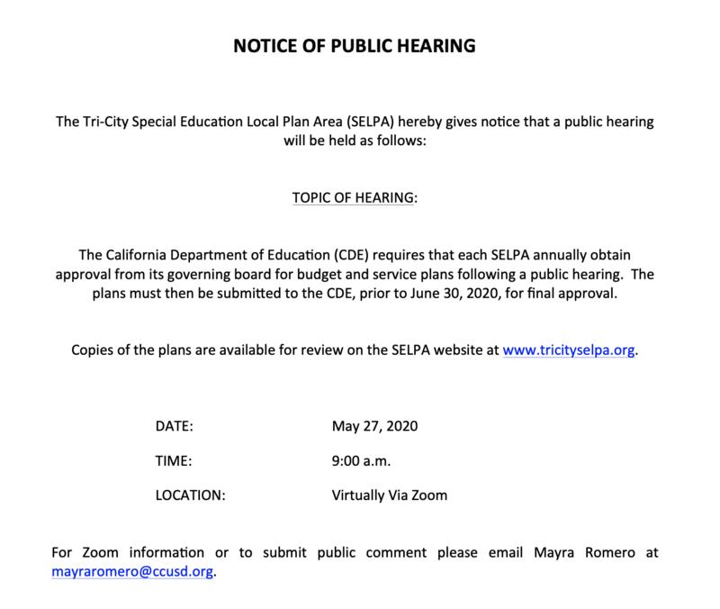 ABSP Notice of Public Hearing May 2020