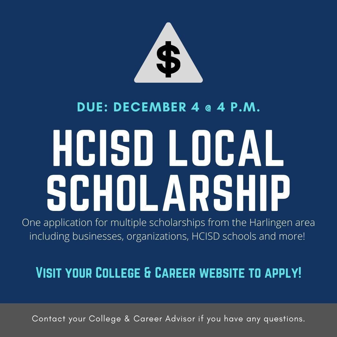 Local Scholarship Announcement