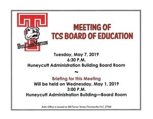5-7-19 BOE Meeting Notice