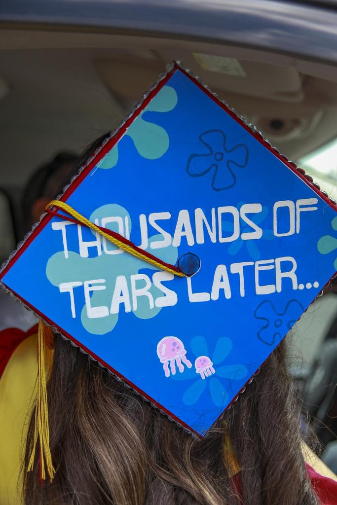 Decorated graduation cap