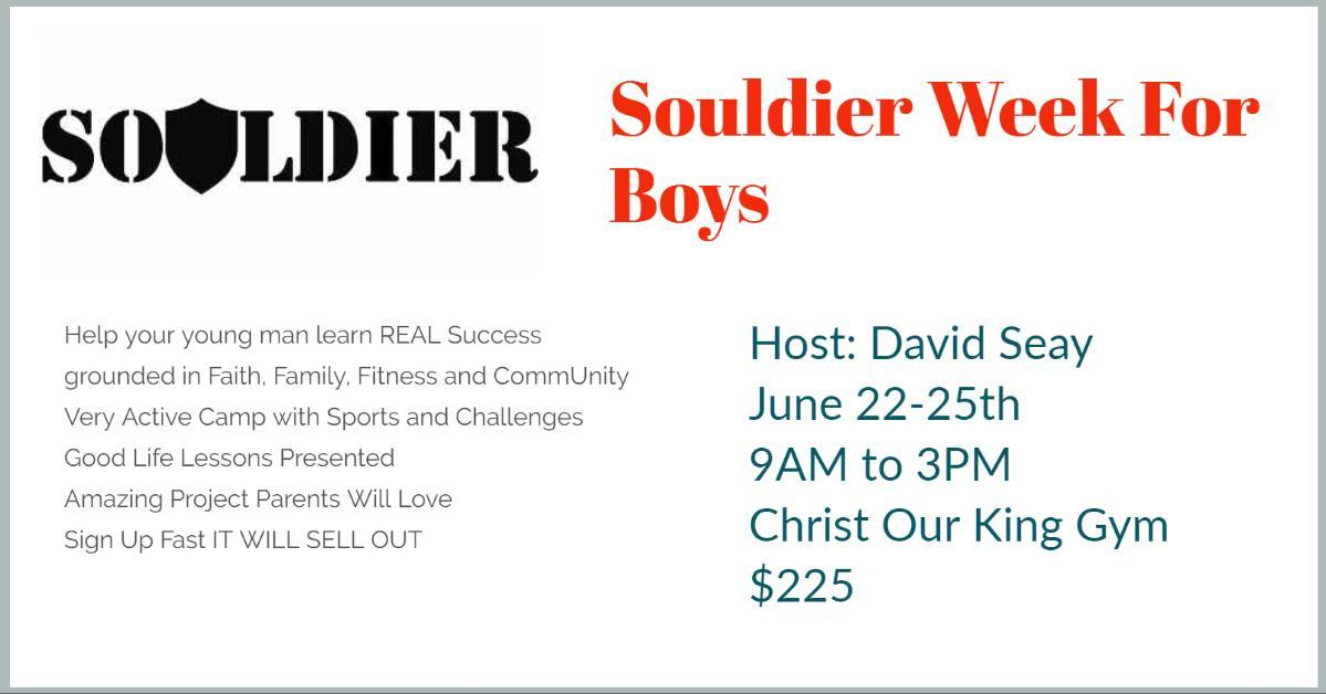 Souldier Week For Boys
