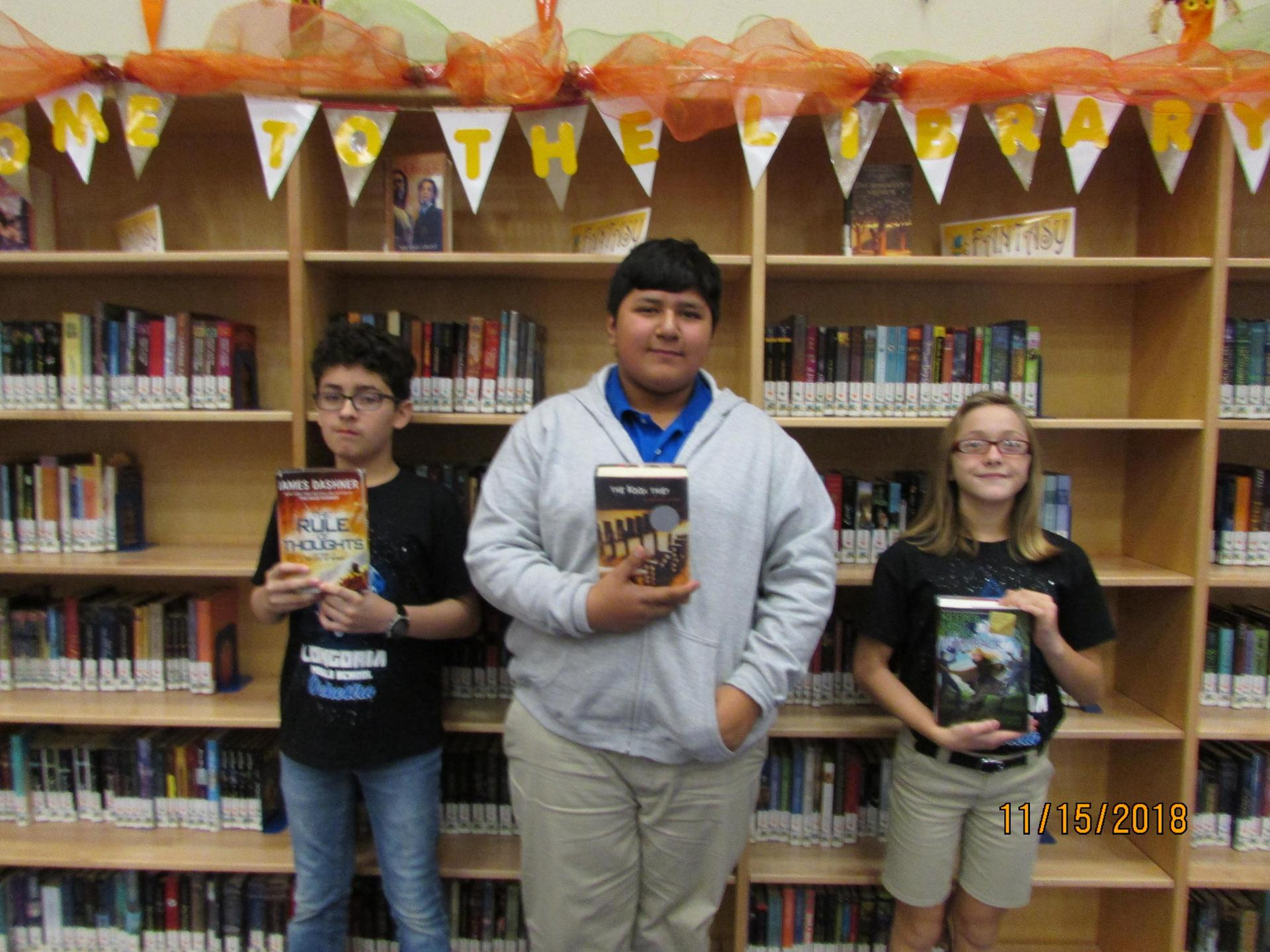 Photo of Top Readers chosen for My Favorite Book video.