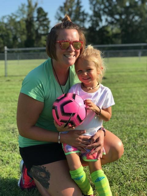 Mama and her soccer star