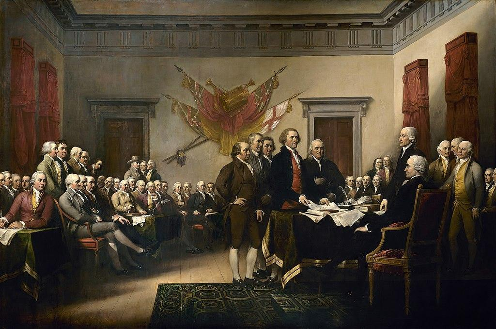 The signing of the Decoration of Independence