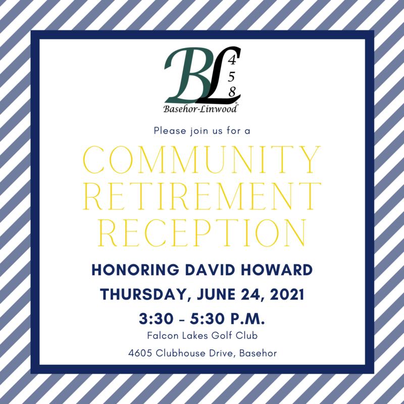 Retirement Reception 3:30 p.m. Thursday, June 24th