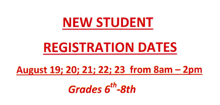 New Student Registration Dates/Estudiante Nuevo Feches de MatriculaciÓn Thumbnail Image