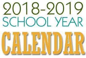 2018-2019 Calendar Thumbnail Image