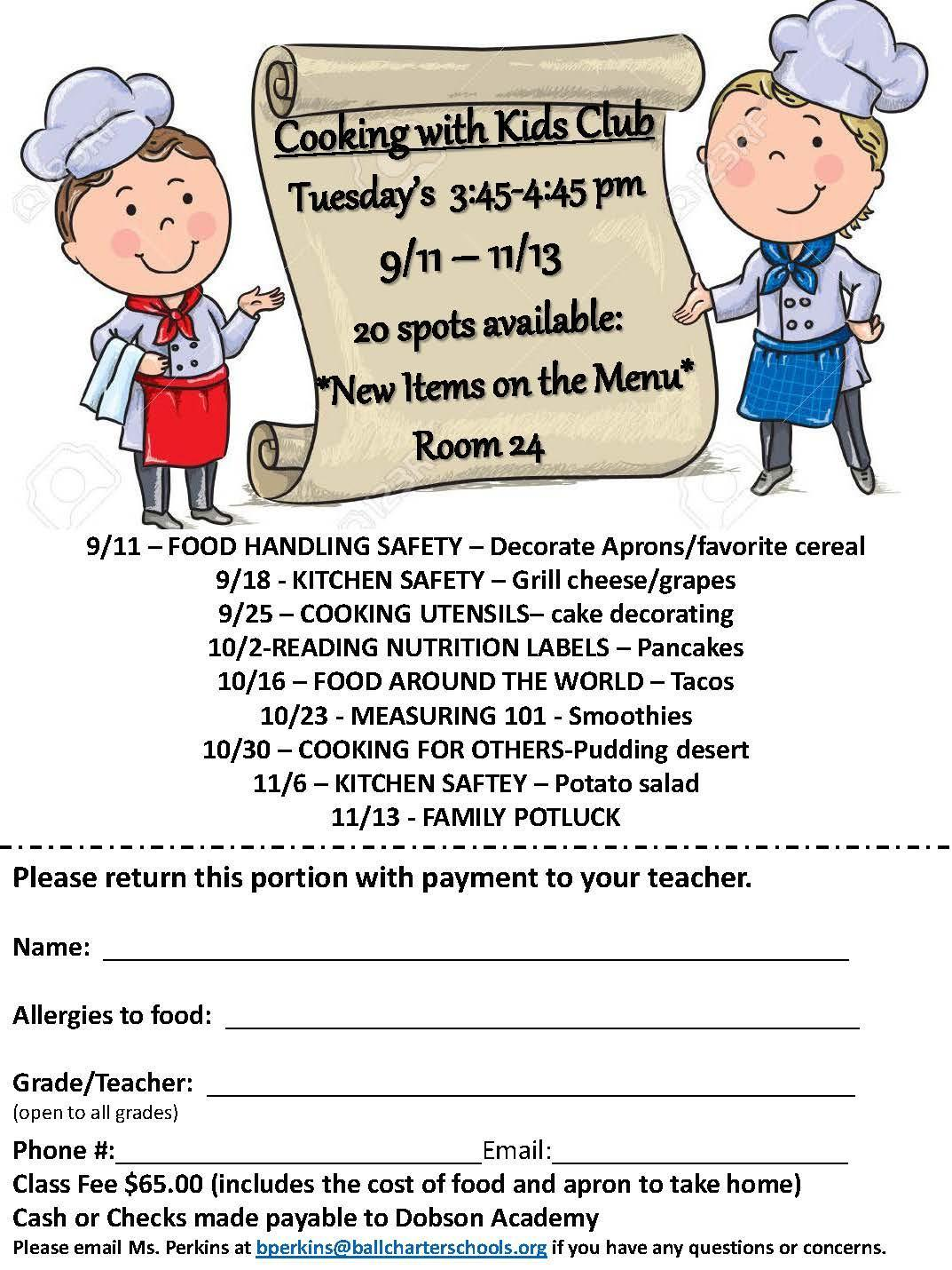 cooking club info