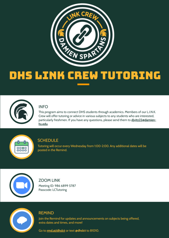 Link Crew Tutoring Featured Photo