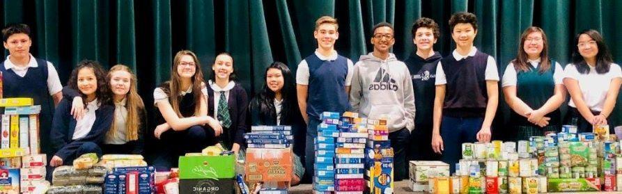 December 2018 Food Drive for St. Vincent de Paul