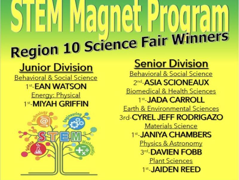 STEM Region 10 Science Fair Winners! Thumbnail Image