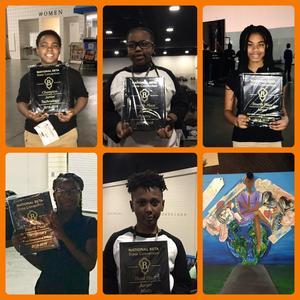 McCrorey-Liston's Junior Beta Club members hold their awards.