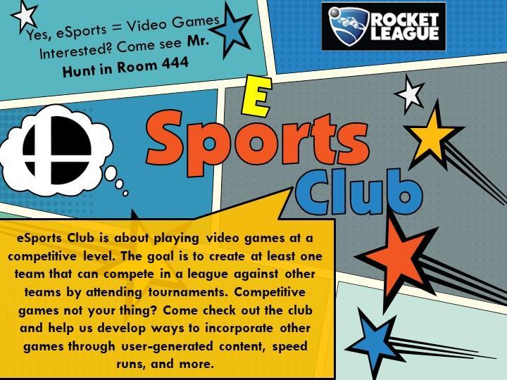 Poster for esports club