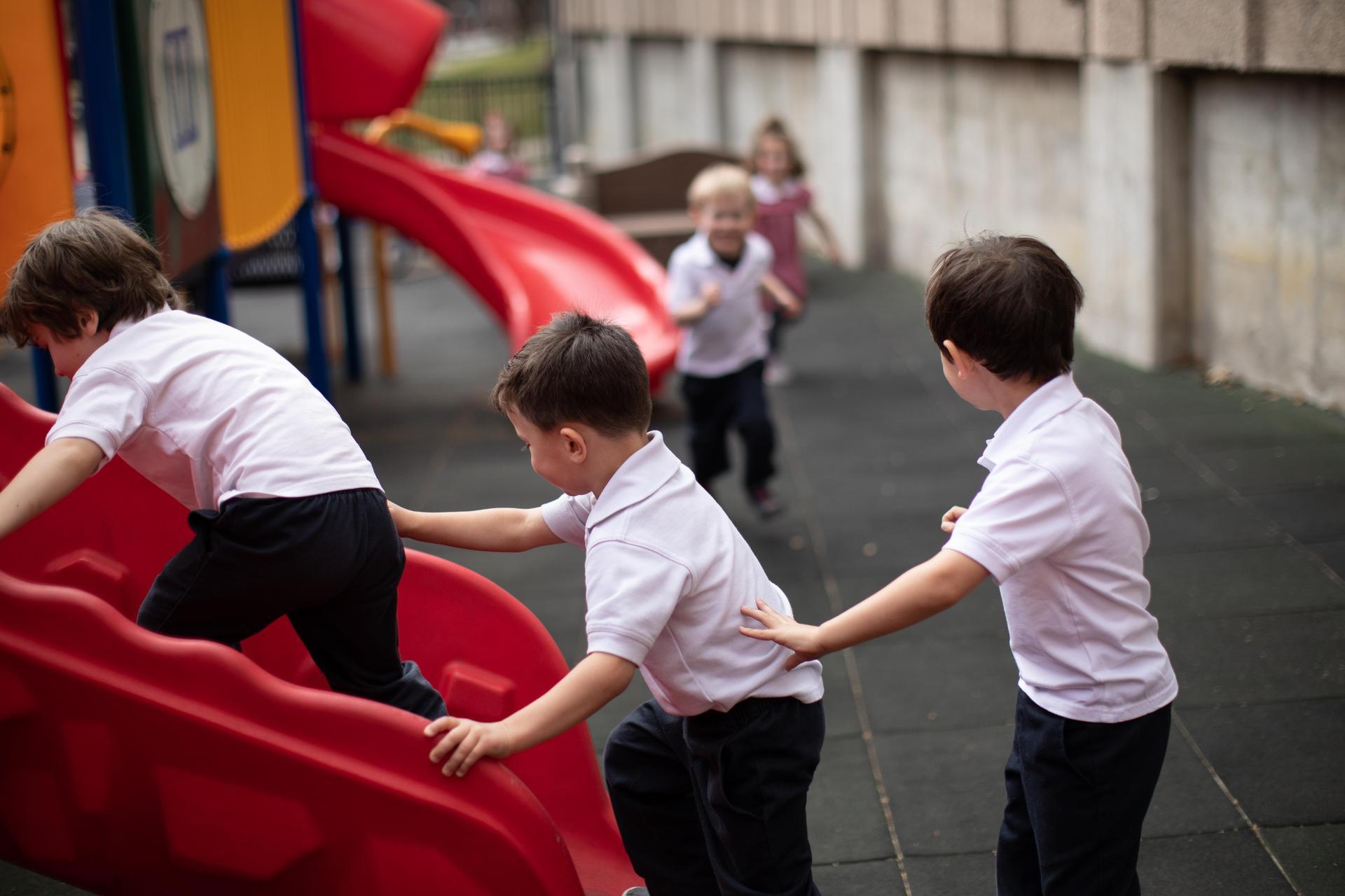 Boys on the playground