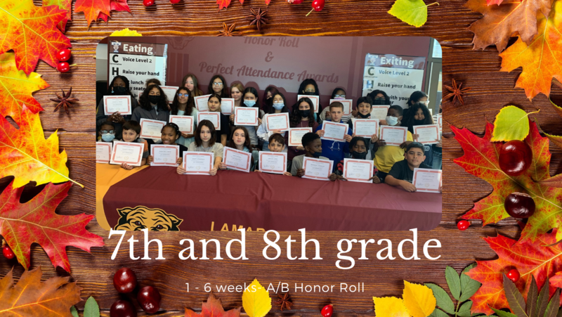 1st 6th weeks- A/B Honor Roll- 7/8th grade Featured Photo