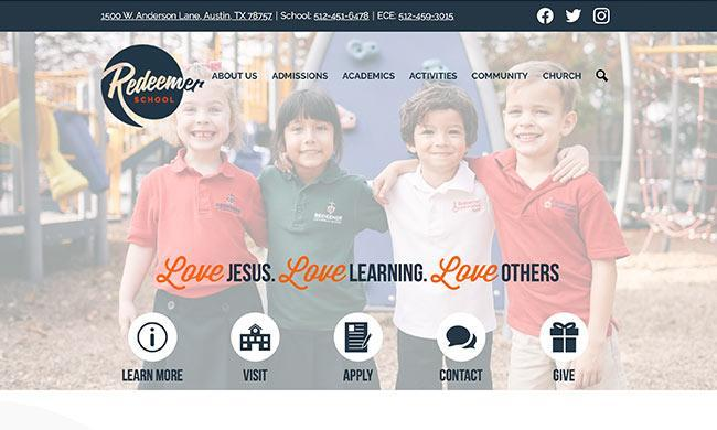 Redeemer School's website