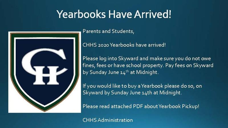 Yearbooks have arrived