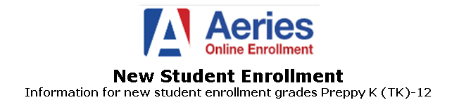 New Student Enrollment Website
