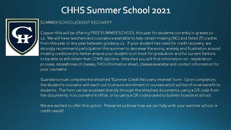 CHHS Summer School 2021