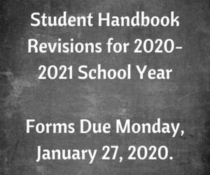 handbook revisions