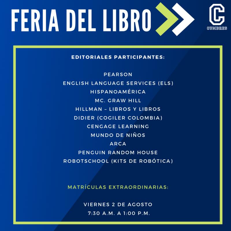 Feria del Libro y Matrículas Extraordinarias (2 de agosto) Featured Photo