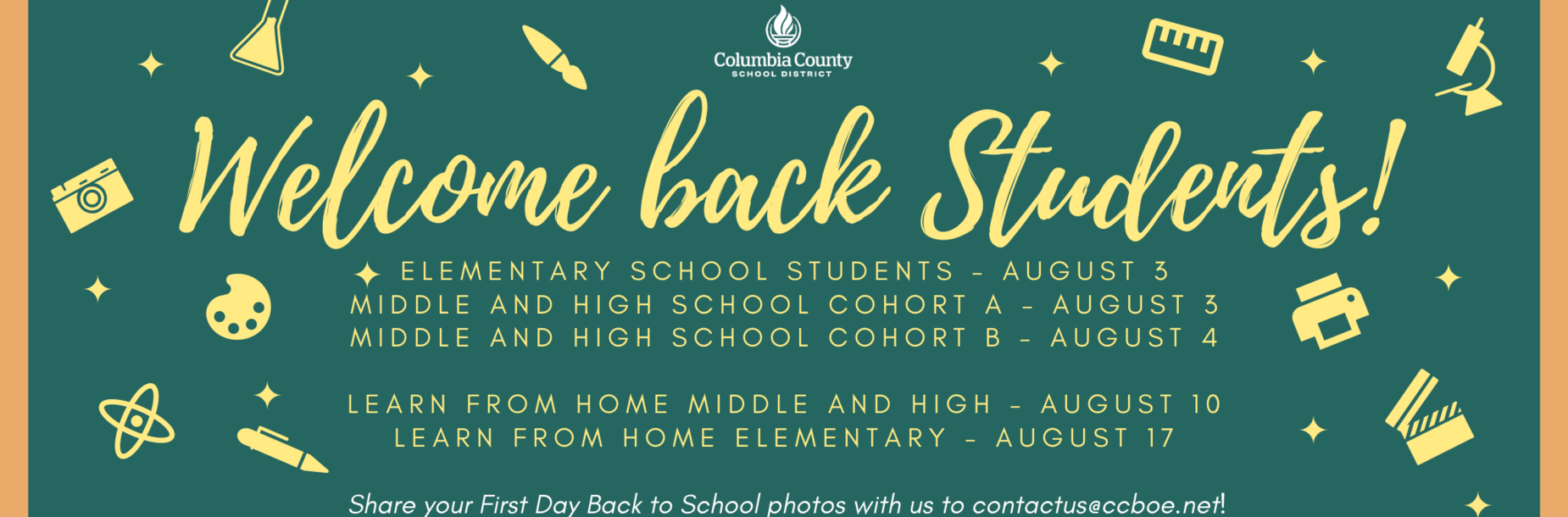 welcome back students infographic