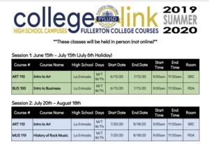 Collegelink 2019-2020