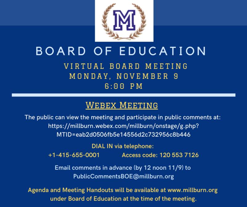 BOE meeting announcement