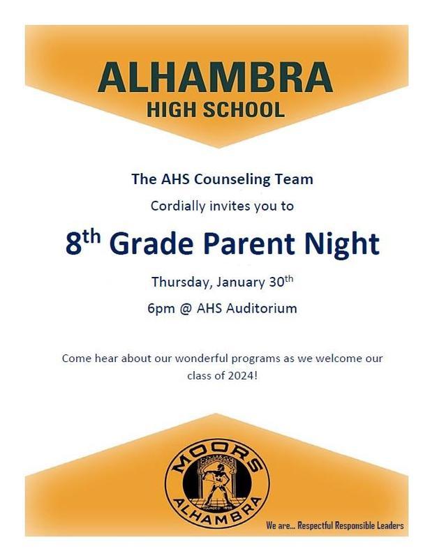 8th Grade Parent Night Featured Photo