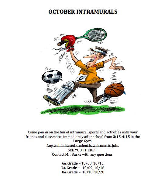 October Intramurals Featured Photo