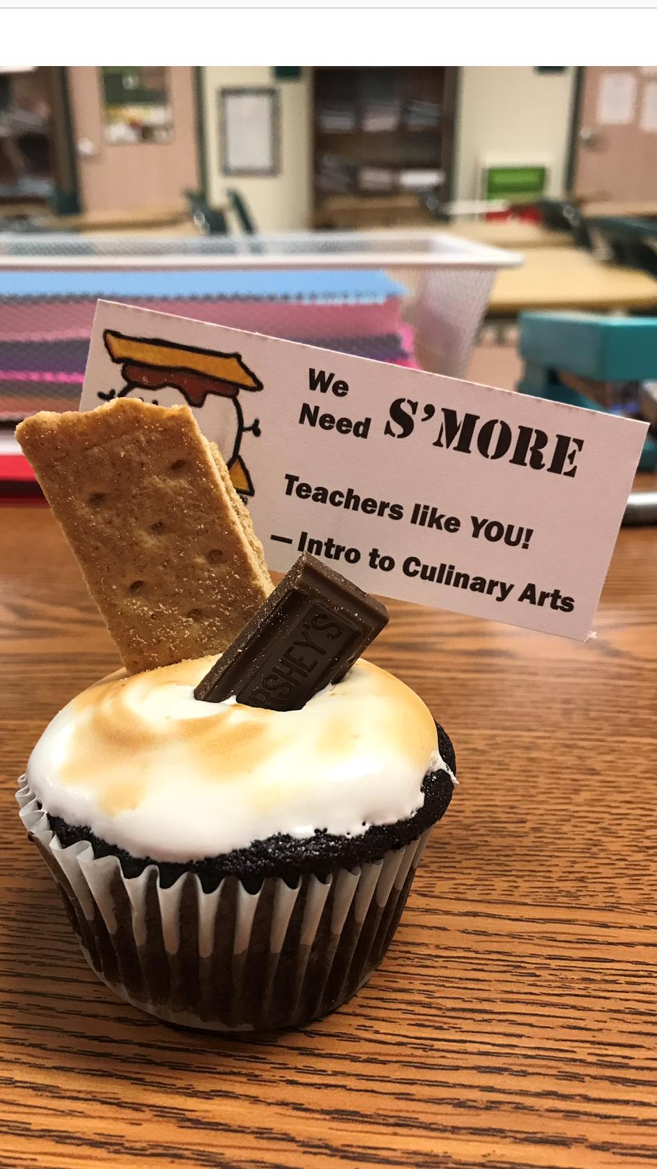 Smore's Cupcakes Teacher Appreciation Week 2019